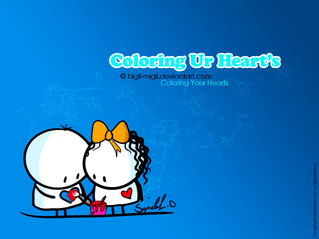 Free Download Hearts Drawings Coloring Galerry Wallpaper