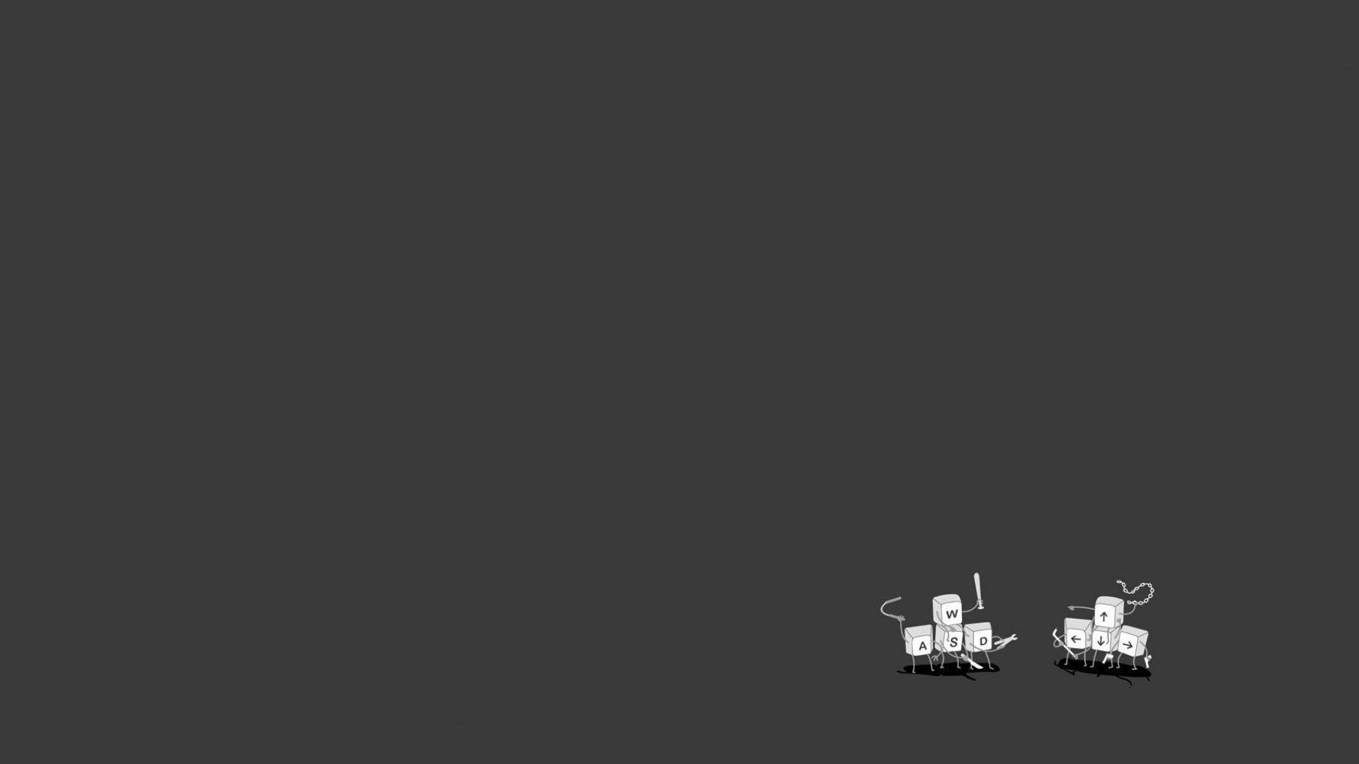 Minimalistic computers funny simplistic simple wallpaper | 1920x1080 .