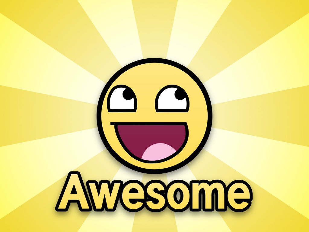 Awesome Epic Smiley Wallpaper 1024x768