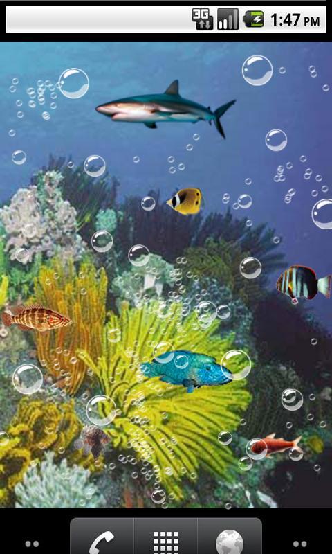 3d live aquarium wallpapers wallpapersafari for Fish tank 3d live wallpapers