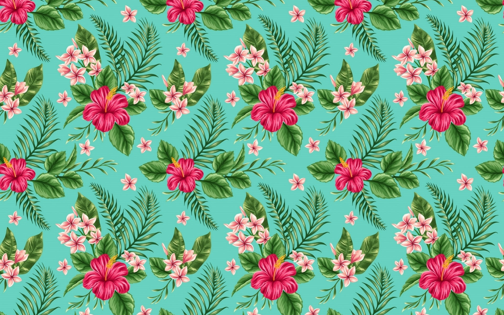 1920x1200 Hibiscus Pattern desktop PC and Mac wallpaper 1920x1200