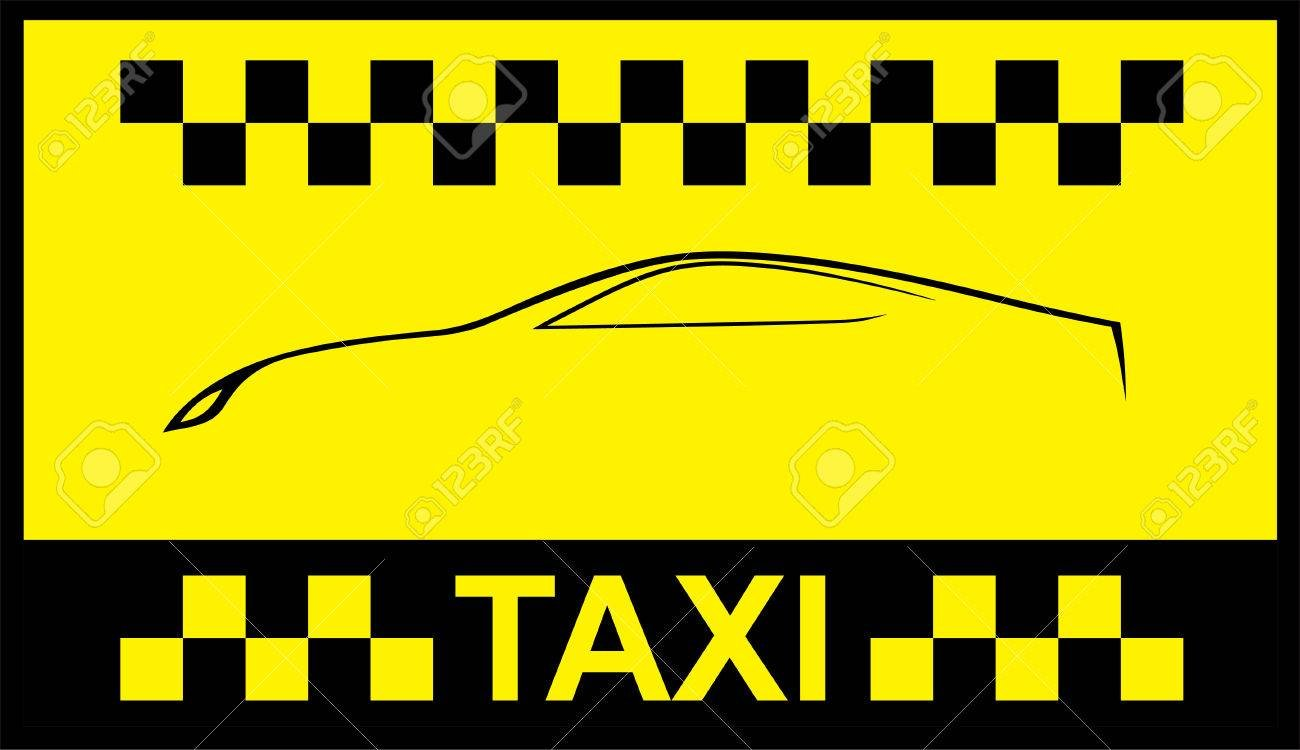 Racing Orange Background Taxi Cab Cover Template Royalty 1300x750