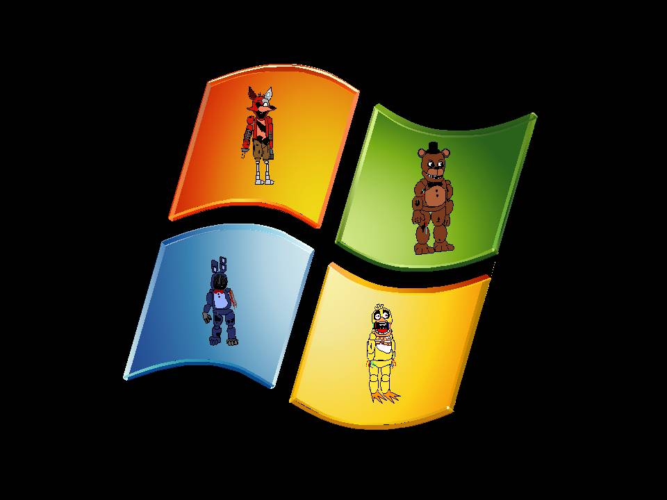 FNAF In Windows Logo Wallpaper by SonicTheComedianArt 960x720