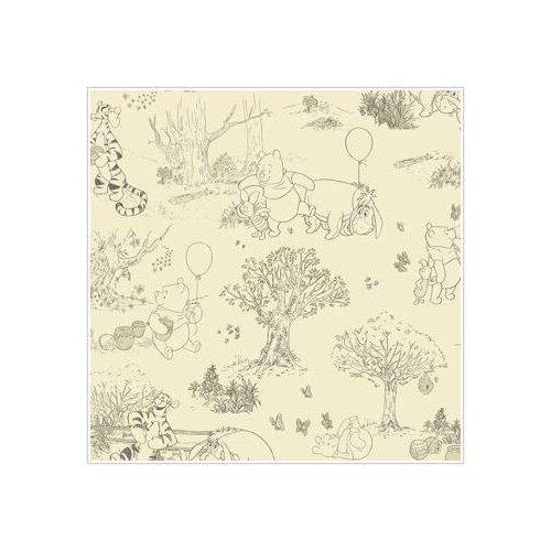 Winnie The Pooh Classic Cream Toile Wallpaper Kitchen 500x500