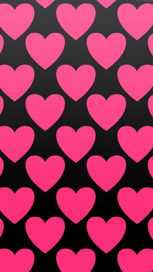 Pink and Black Heart Wallpaper - WallpaperSafari