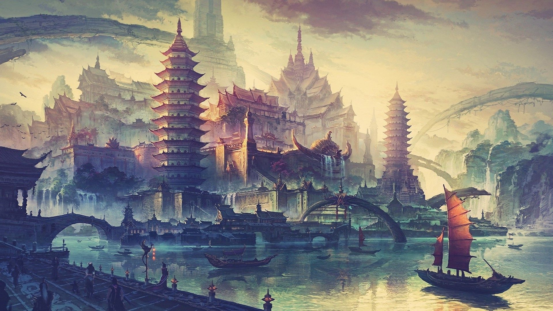 City Drawing Wallpapers   Top City Drawing Backgrounds 1920x1080