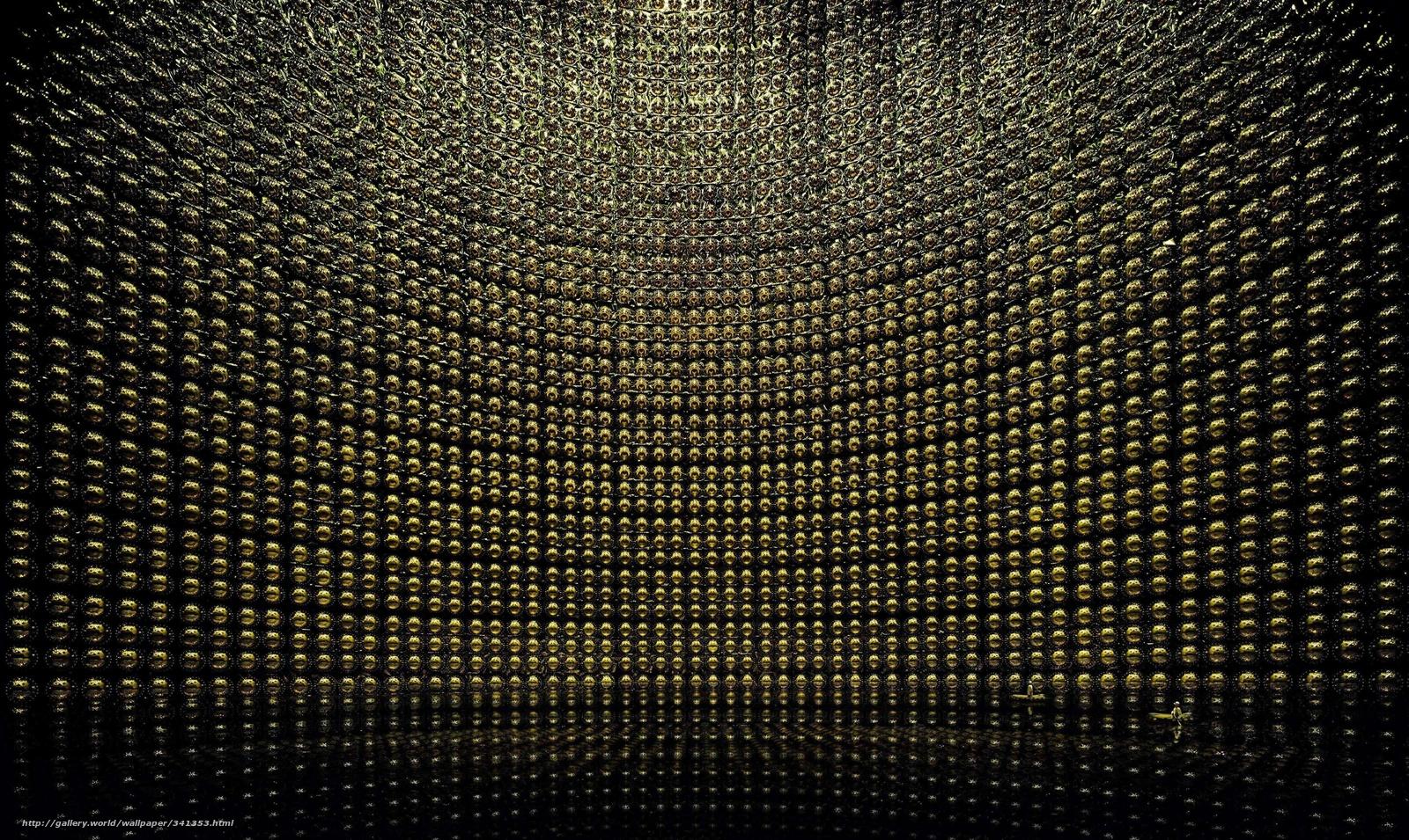 Download wallpaper neutrino detector water photomultipliers 1600x955