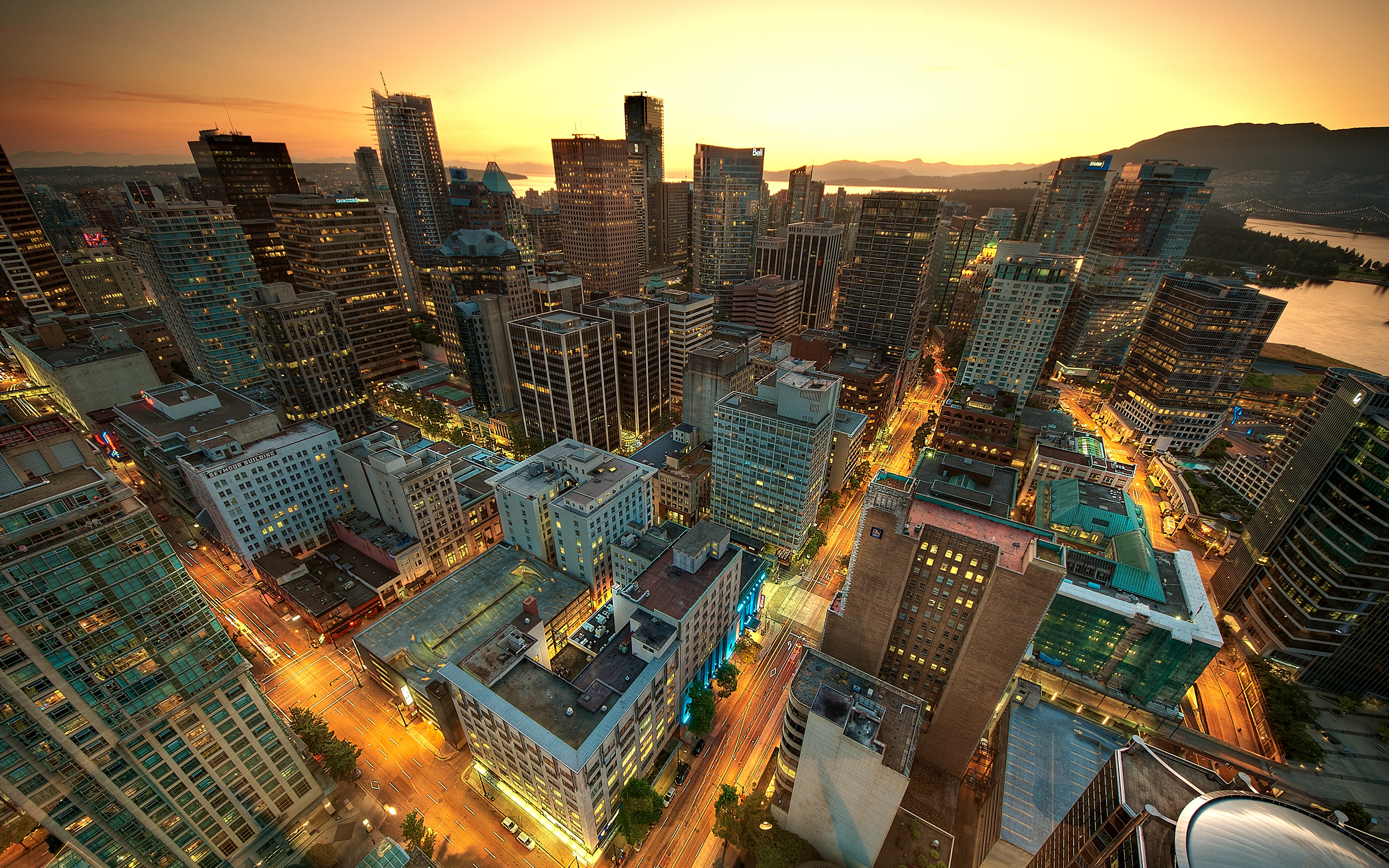 Vancouver Sunset Canada Wallpapers HD Wallpapers 2560x1600