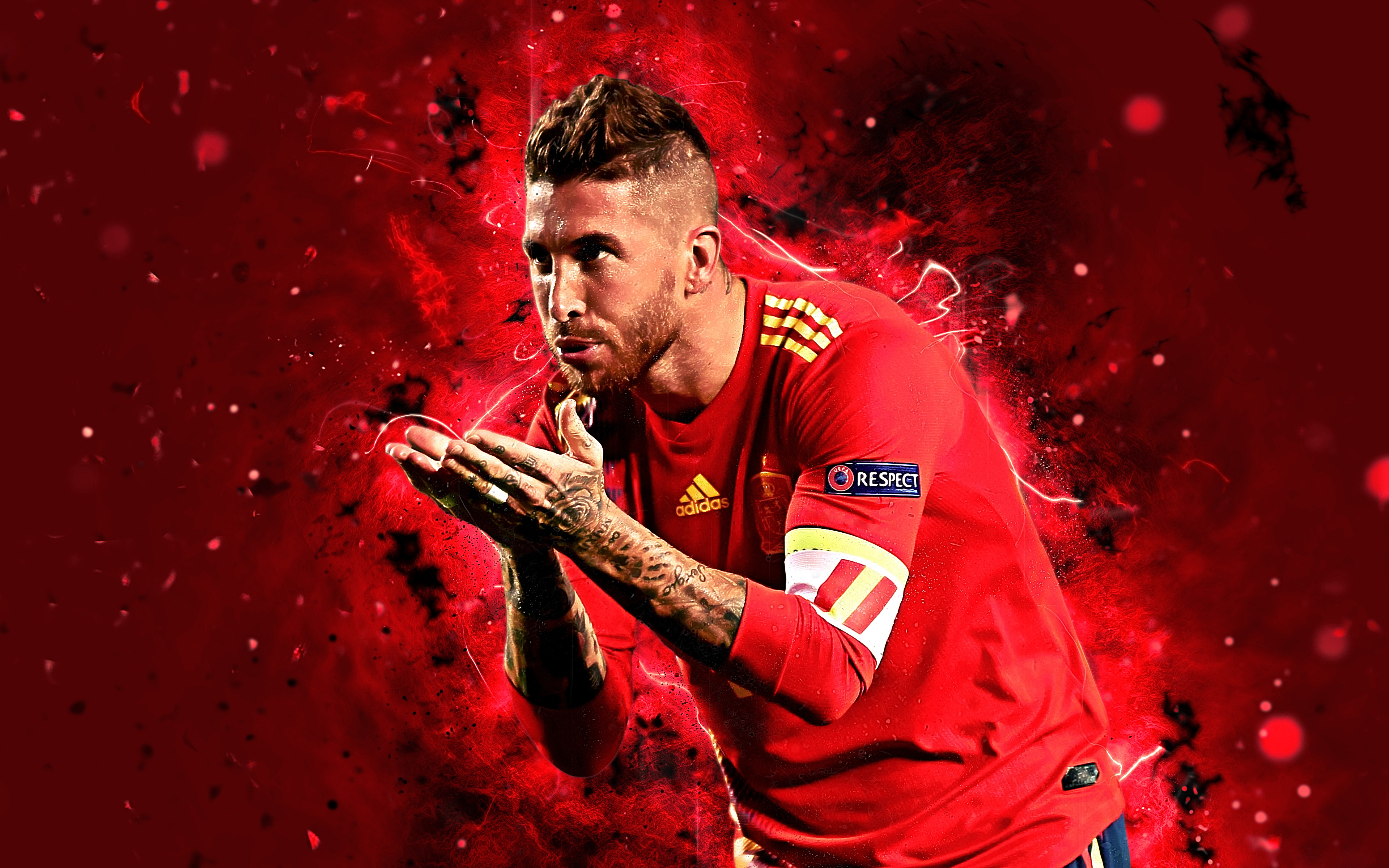 Sergio Ramos   Spain 4k Ultra HD Wallpaper Background Image 3840x2400