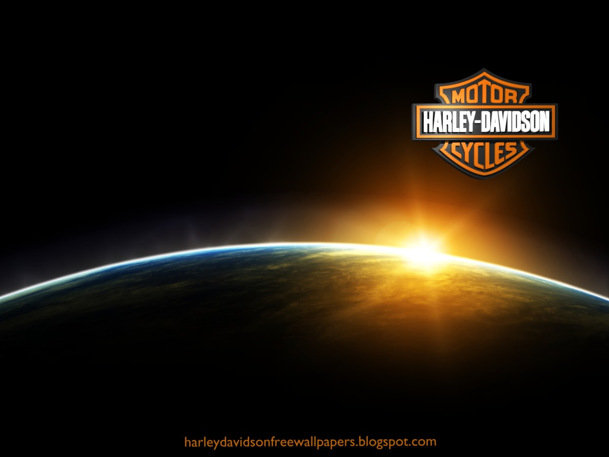 Harley Davidson Wallpapers Harleys Logo in Space Eclipse from 1200x900