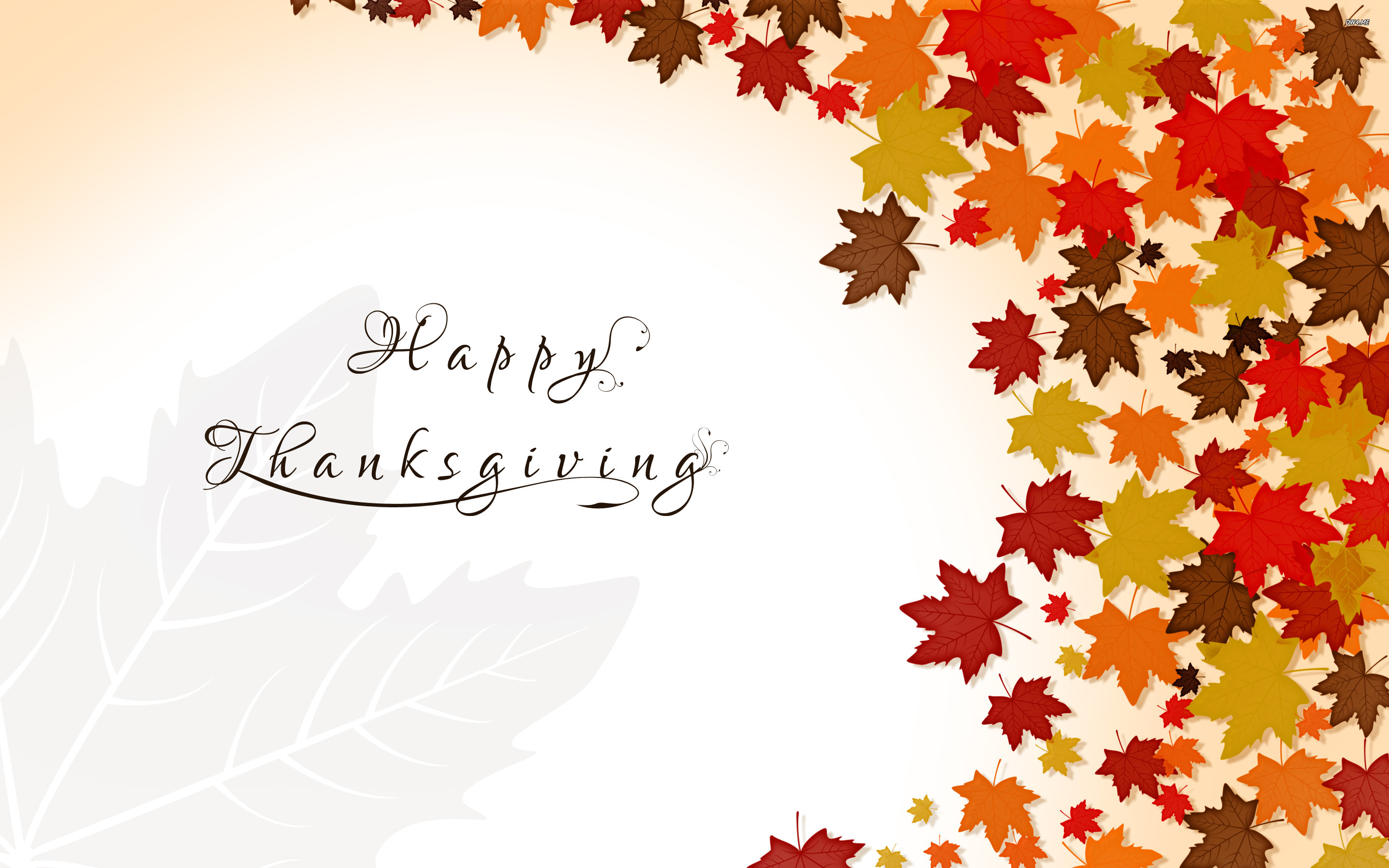 Holiday Happy Thanksgiving Wallpaper Red Background 2880x1800
