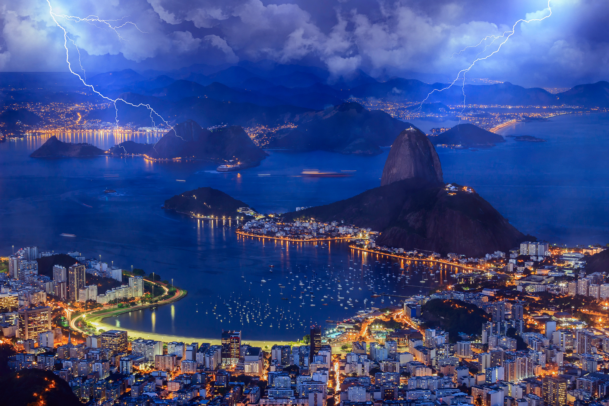 Storm over Botafogo HD Wallpaper Background Image 2048x1365 2048x1365