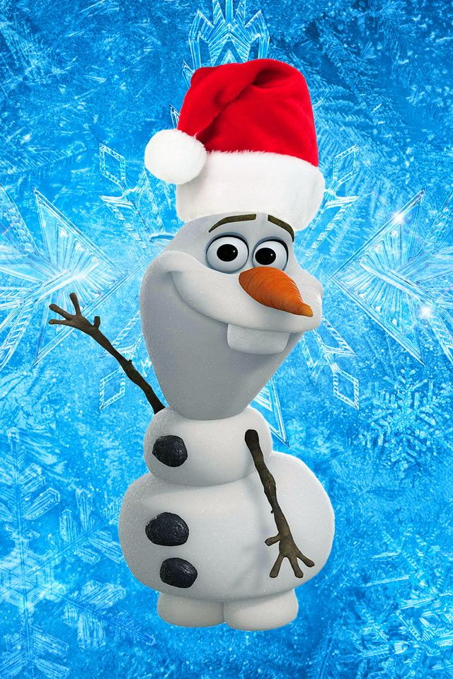 Wallpapers Frozen Wallpaper Olaf Wallpapers Christmas Wallpapers 640x960