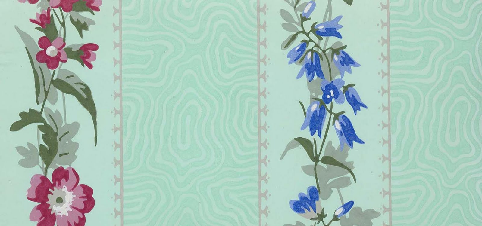 Illustration French wallpaper design for a bedroom 1849 1600x752