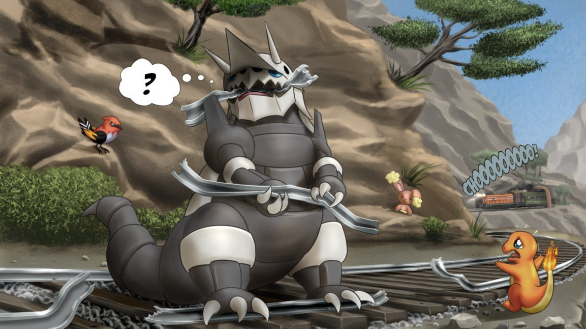 The Trouble with Aggron by MykeGreywolf 1191x670