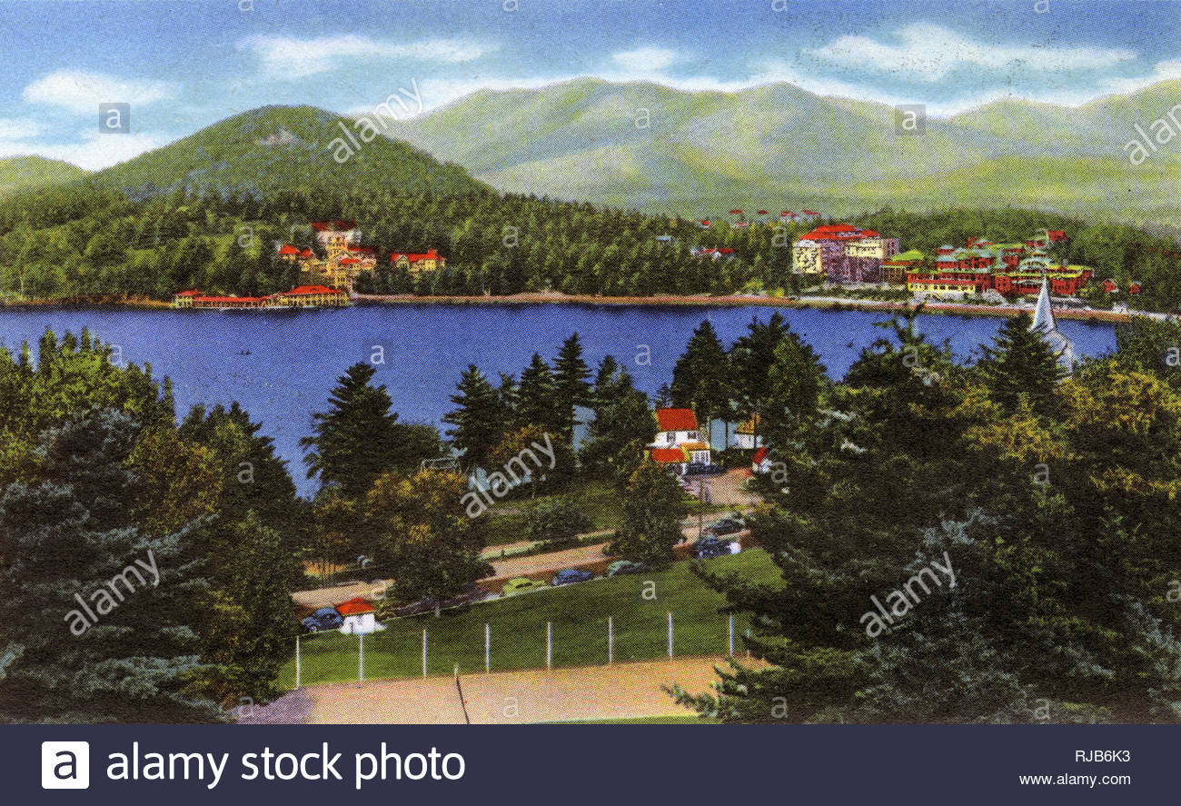 Lake Placid NY USA   Lake Placid Club and Mirror Lake   Cobble 1300x887