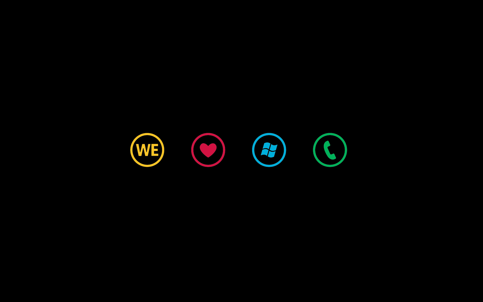 Download We Love Windows Phone wallpaper 1680x1050