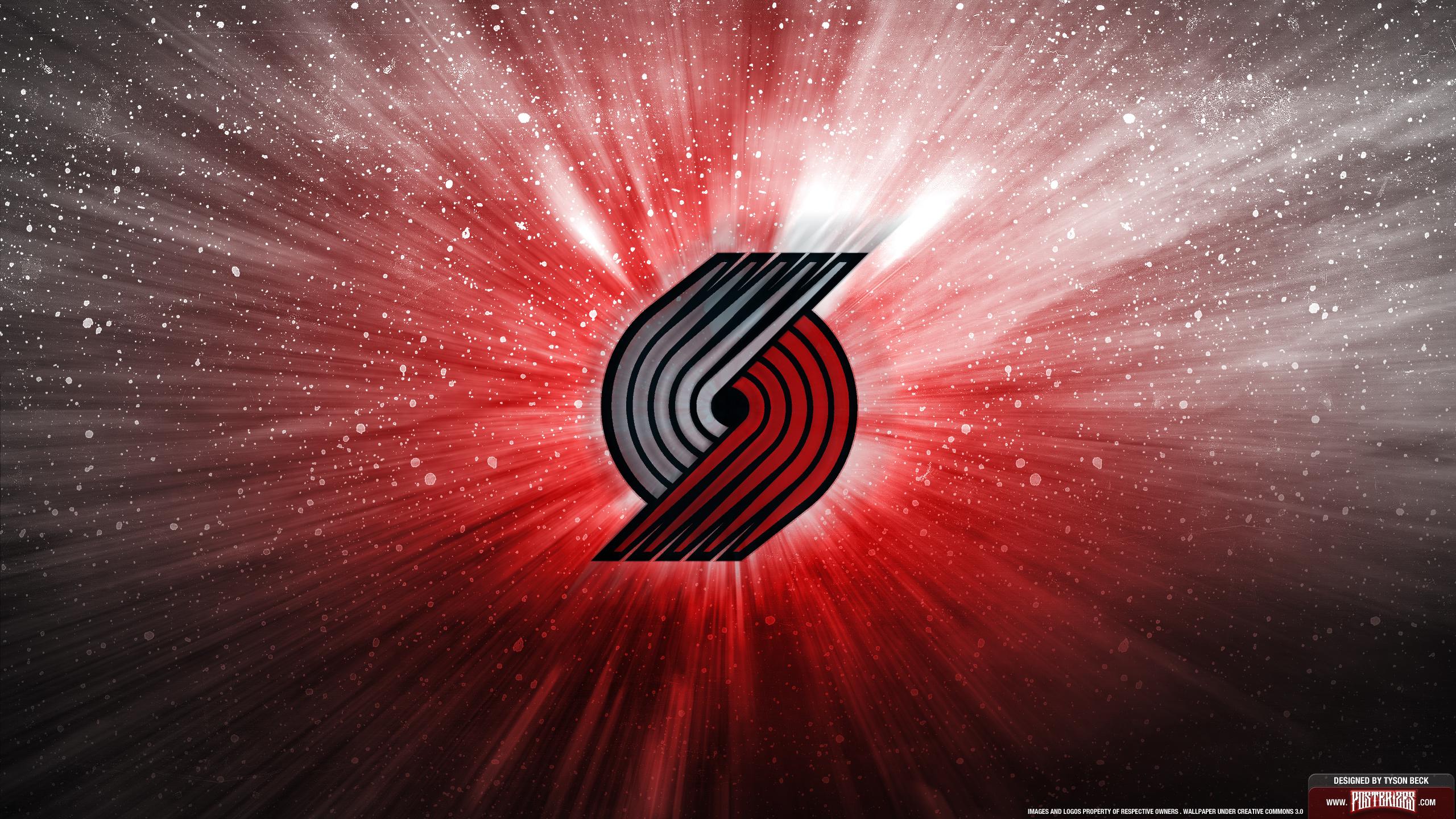 Portland Trail Blazers Logo Wallpaper Posterizes NBA Wallpapers 2560x1440