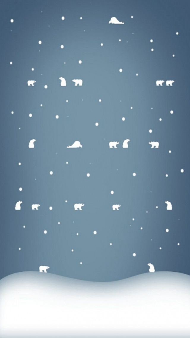 download Cute Polar Bear Winter iPhone Wallpaper iPhone 640x1136