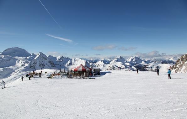 Wallpaper obertauern austria ski resort snow mountain wallpapers 596x380