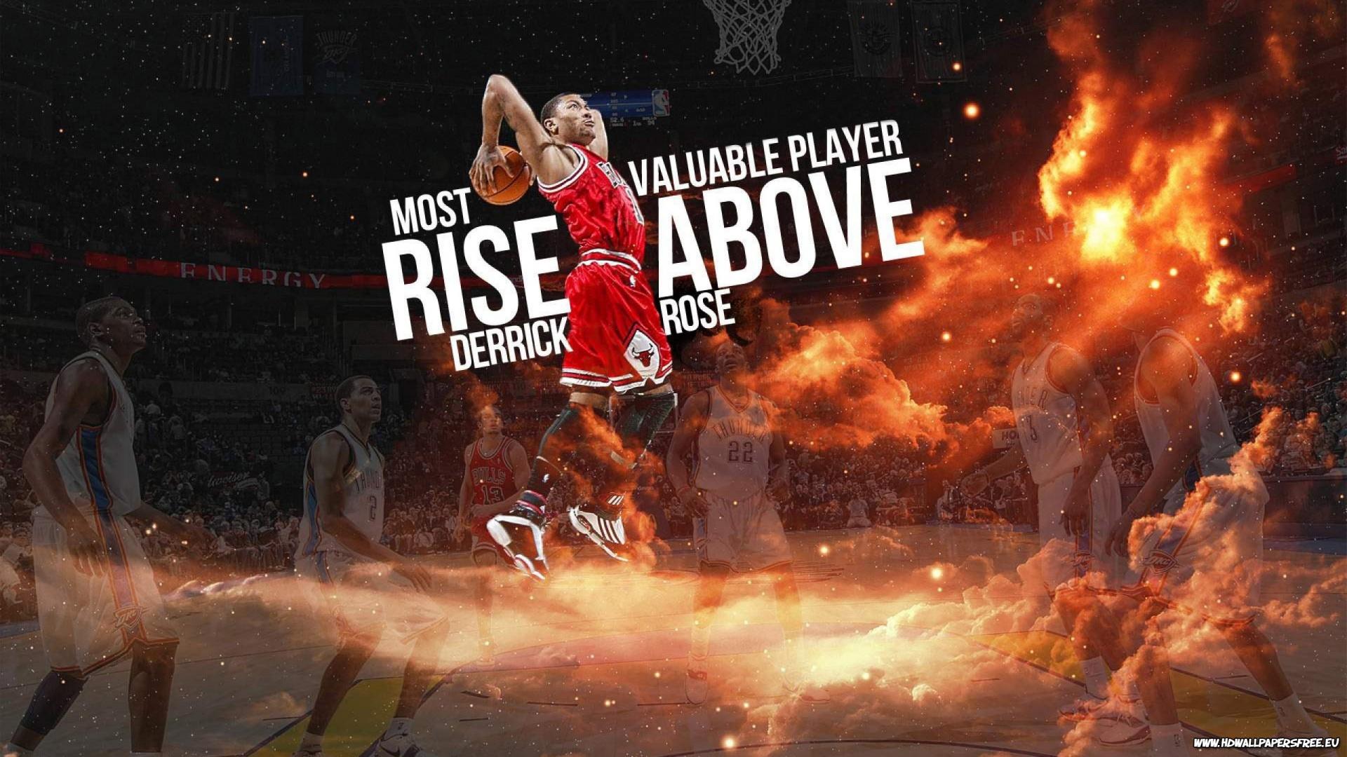 Chicago Bulls Derrick Rose Dunking Wallpaper HD 1920x1080
