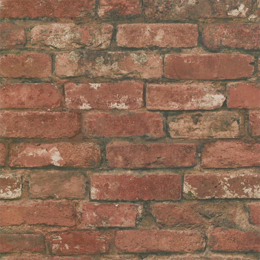 Fine Decor Rustic Brick Wallpaper Red eBay 1000x1000