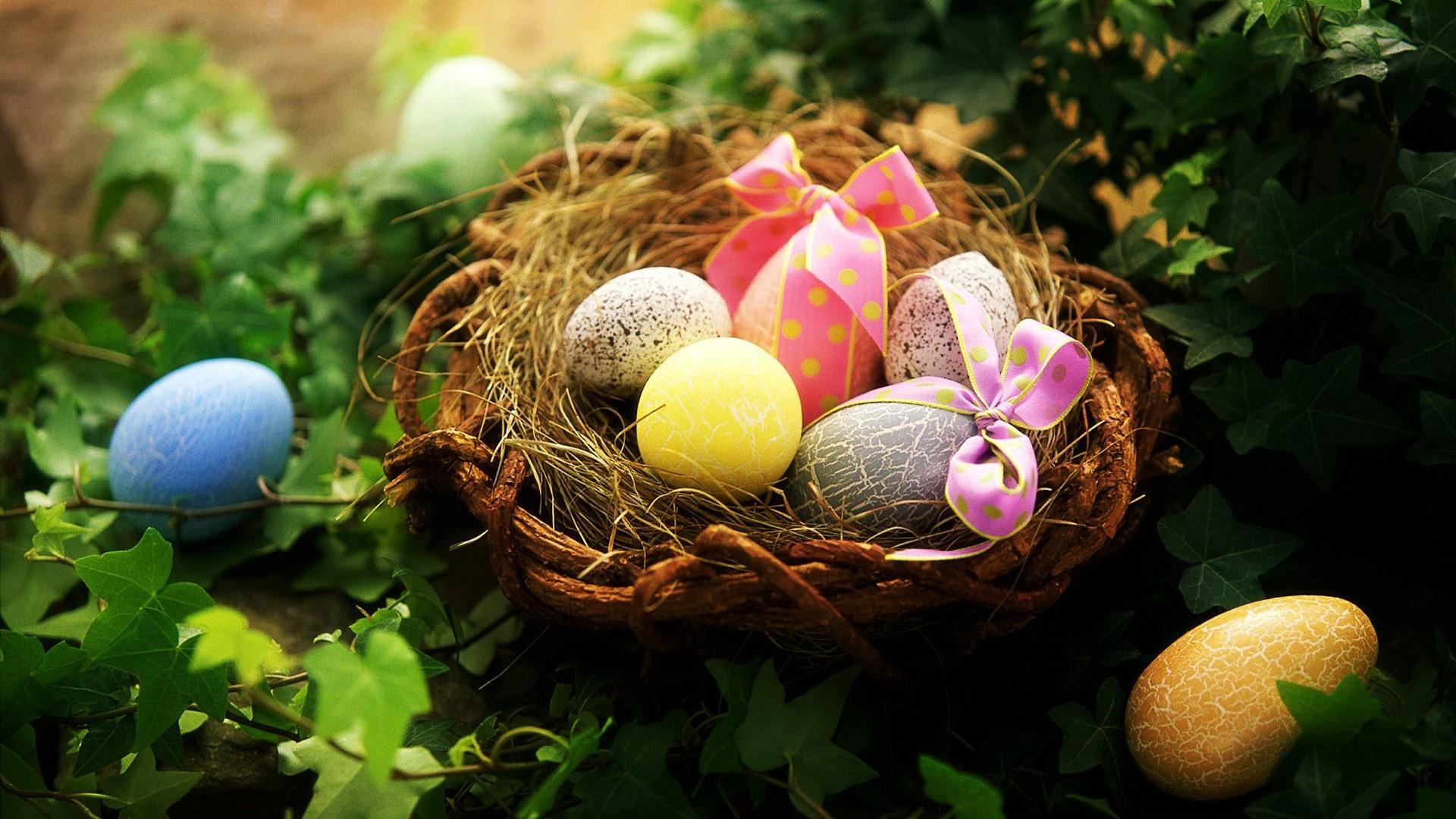 Easter basket wallpaper   634871 1920x1080