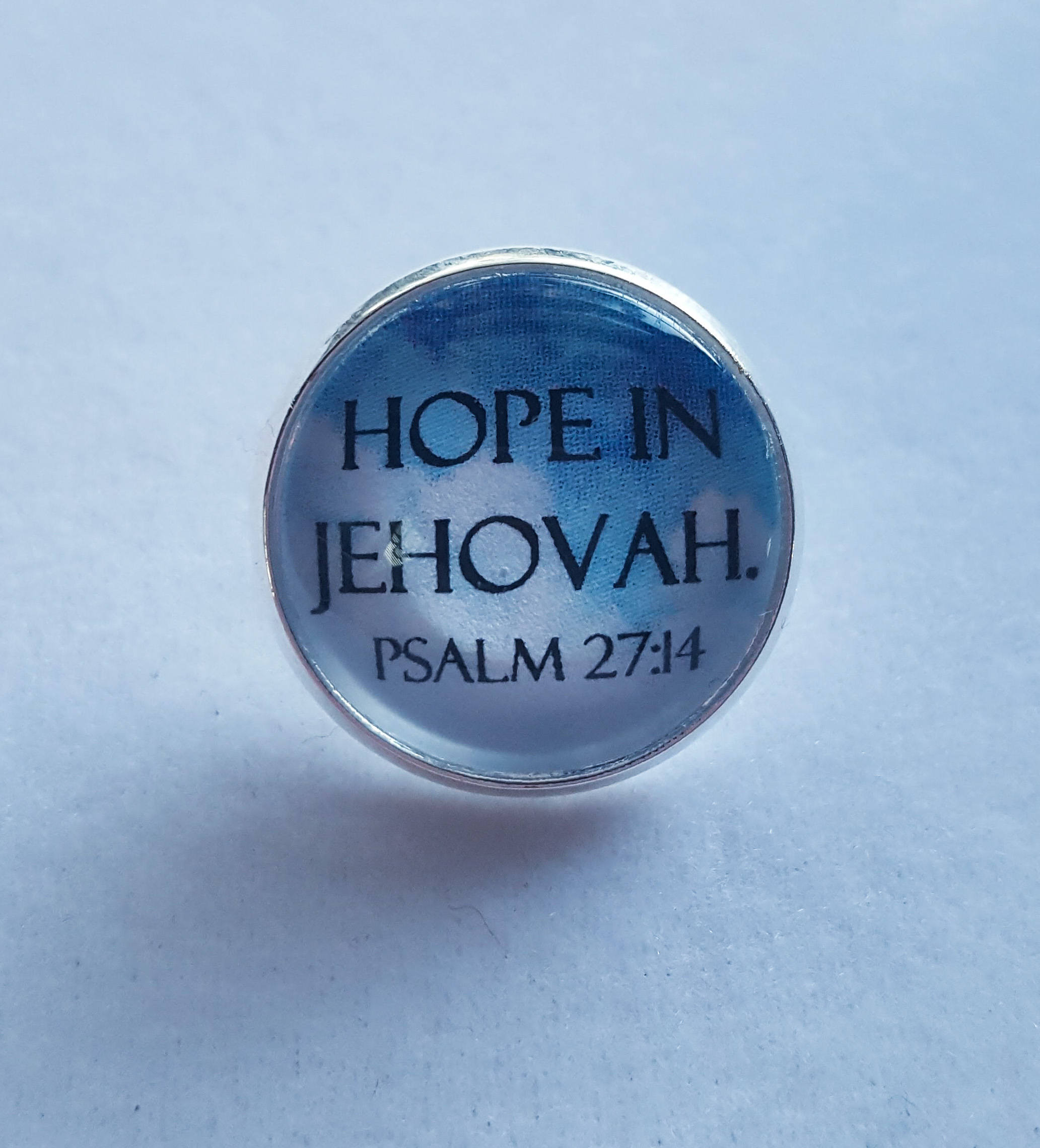 Shiny Silver Tie Tac Hope In Jehovah on Sky Blue Etsy 2065x2280