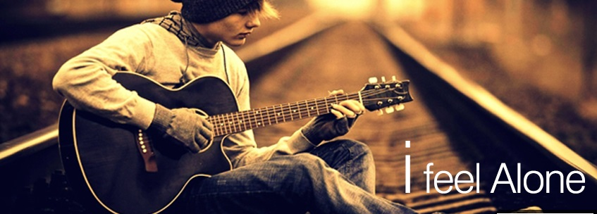 Sad Alone Boy Facebook Cover Wallpaper 847x304