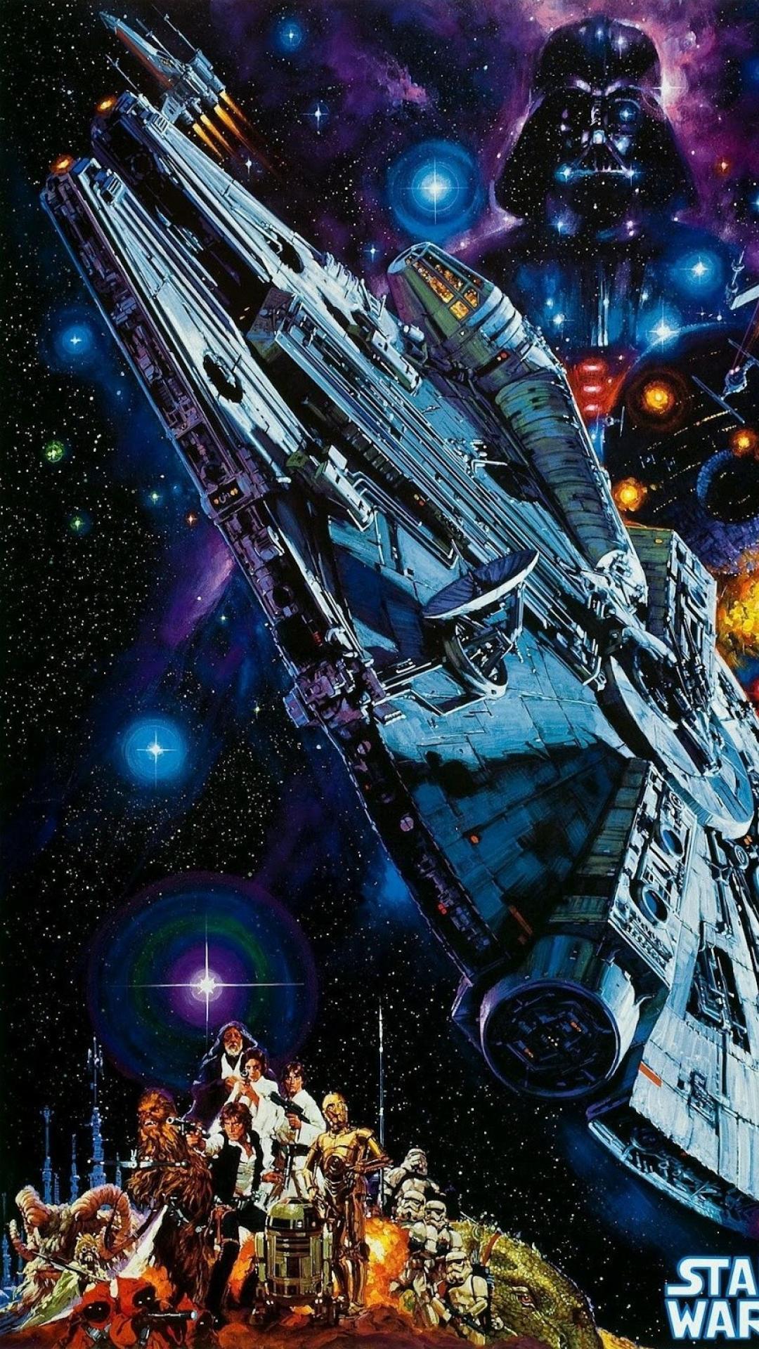 vader death star millennium falcon wars x wing wallpaper 80665 1080x1920