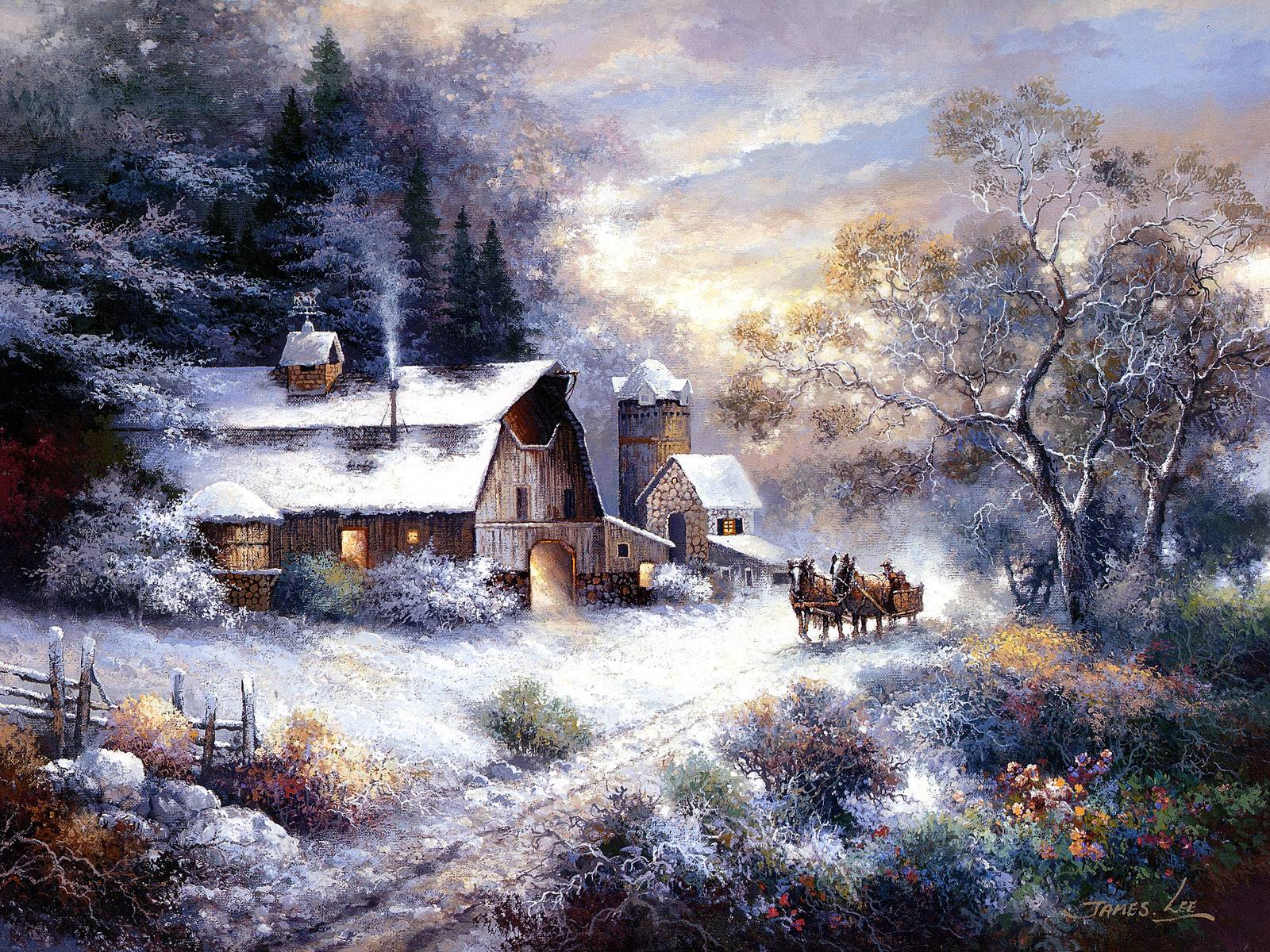 winter country church scenes MEMES 1600x1200