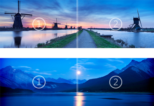 Fun Dual monitor Nightfall and Starlight panoramic theme for Windows 500x346