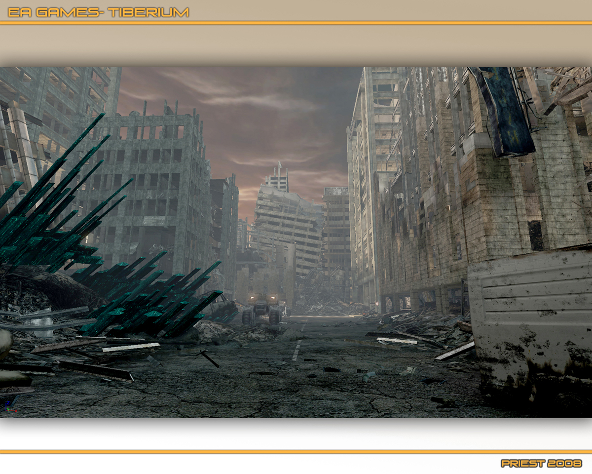 Destroyed City Background 1200x960