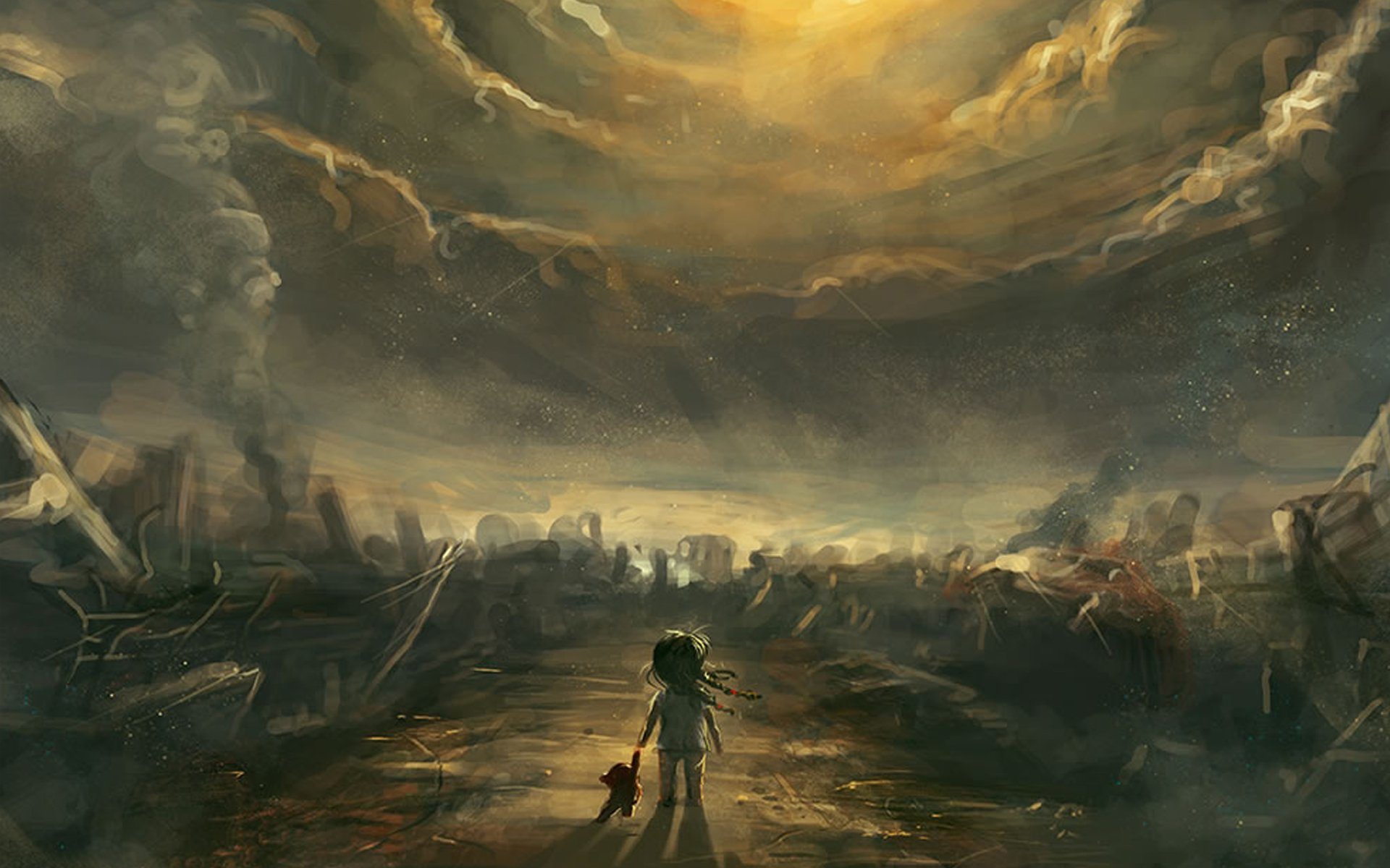 Post apocalyptic artwork wallpaper 1920x1200 196532 WallpaperUP 1920x1200