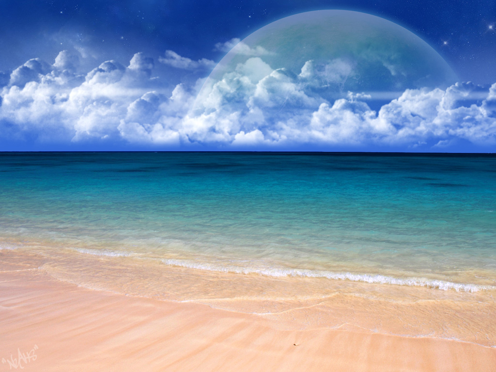 Beautiful Beach Wallpapers: Beautiful Beach Scenery Wallpaper