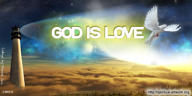 God Is Love Spiritual Artwork 748x374