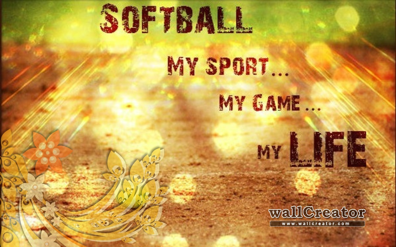 Download Softball My Life 1280 800 Wallpaper [1280x800] 50 1280x800