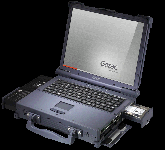 The new Off Road Military Getac A790 Ultra Rugged Laptop in its 671x607