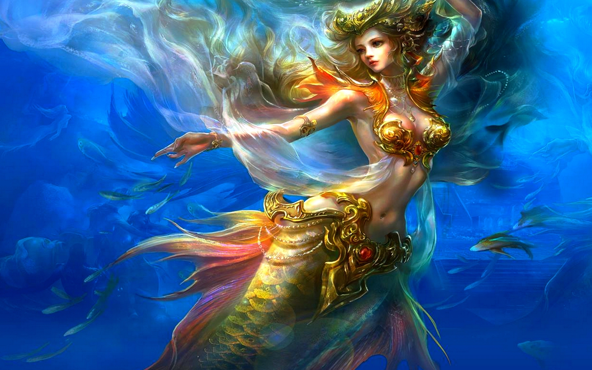 mermaid wallpaper for computer - wallpapersafari
