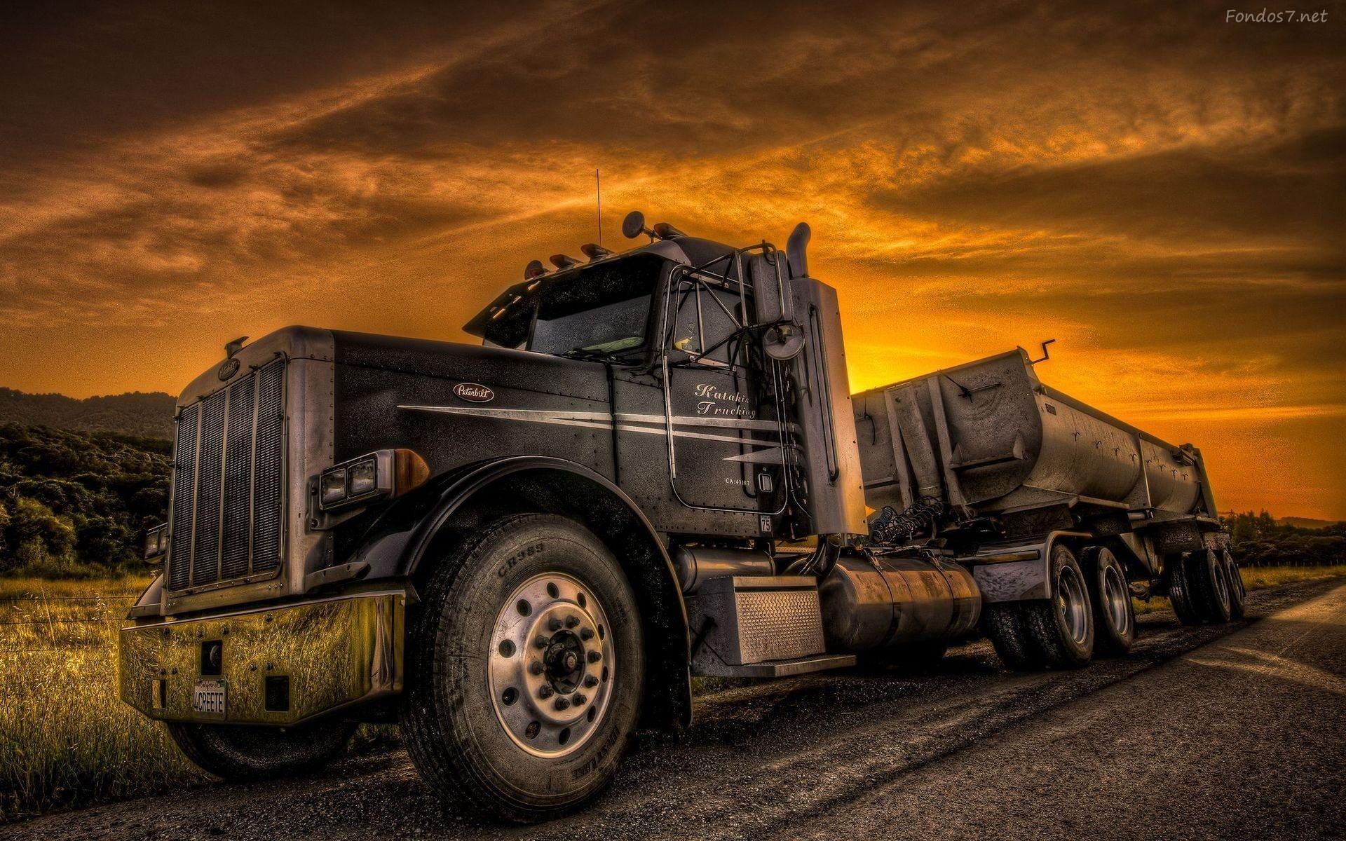 Descargar Fondos de pantalla camion peterbit track hd widescreen 1920x1200