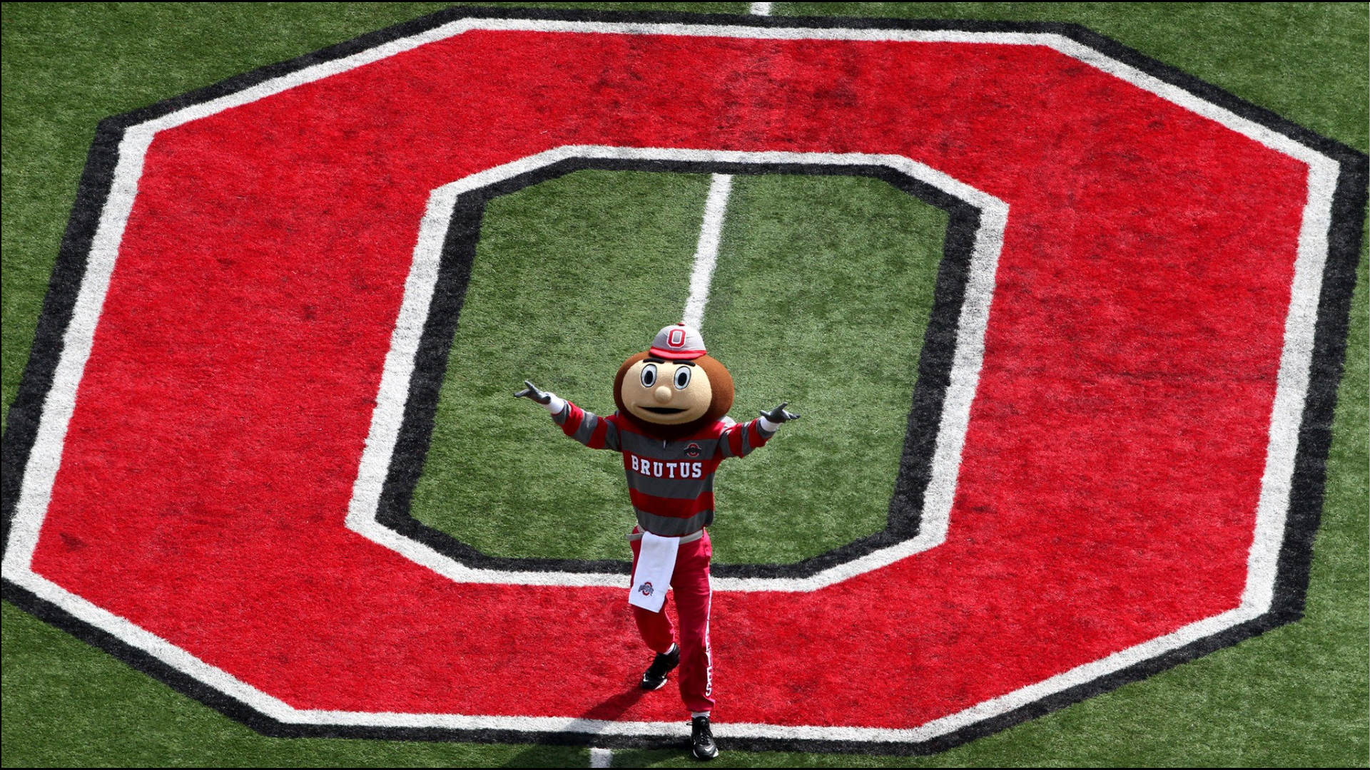 BRUTUS BUCKEYE AT MIDFIELD   Ohio State Football Wallpaper 28922114 1920x1080