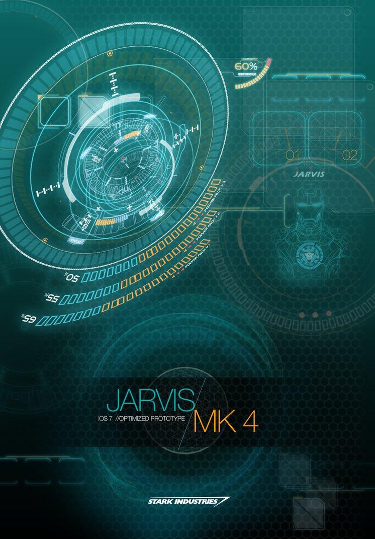 JARVIS MARK 4   iOS 7 OPTIMIZED WALLPAPER by hyugewb 746x1071