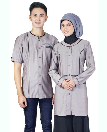 Model Baju Muslim Couple modern Terbaru   Model Baju Terbaru 437x541