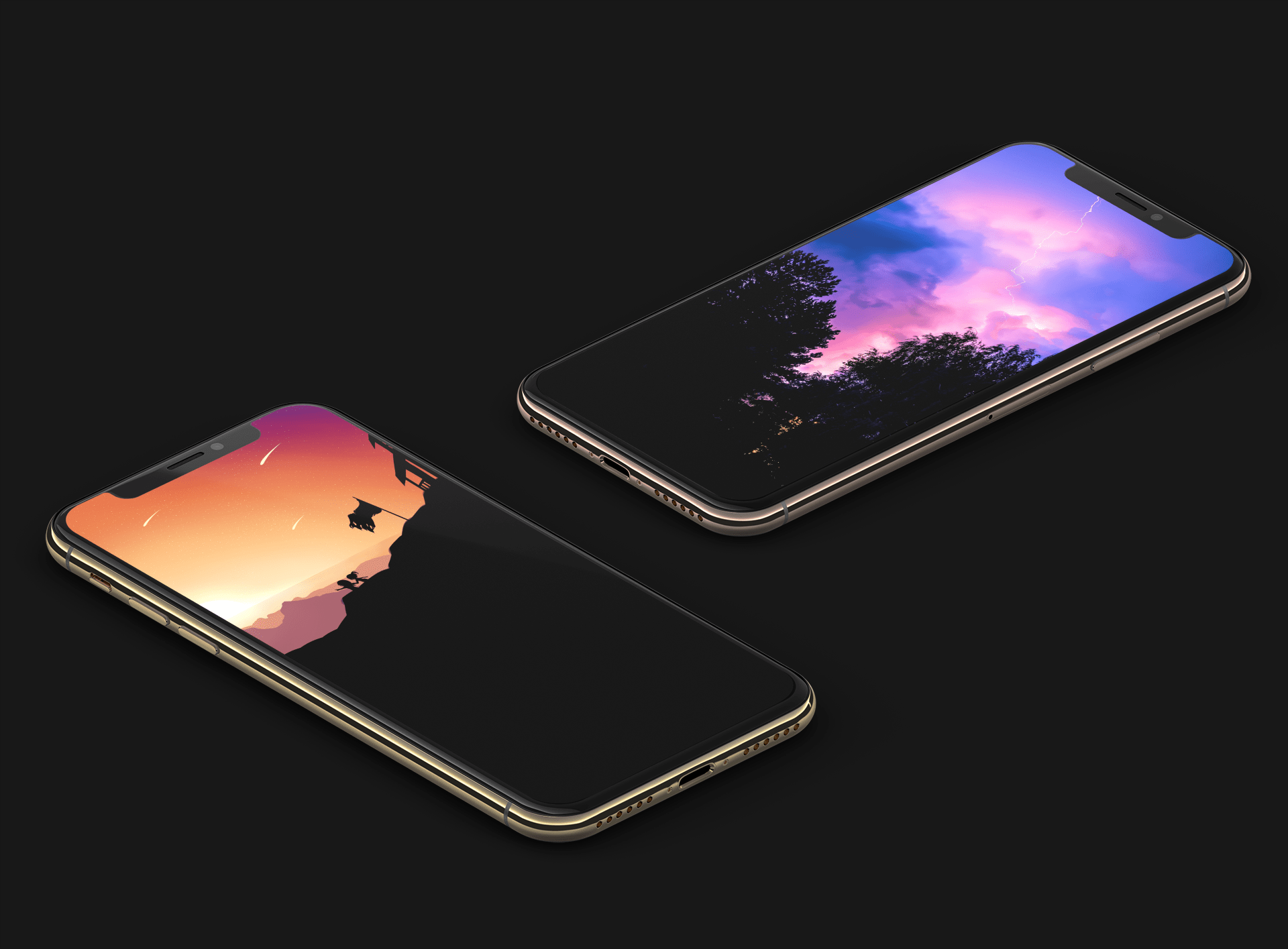 True black and OLED optimized wallpapers for iPhone XS 1920x1415