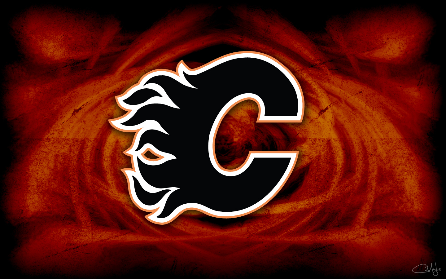 calgary flames background wallpaper by cortender wide 1440x900