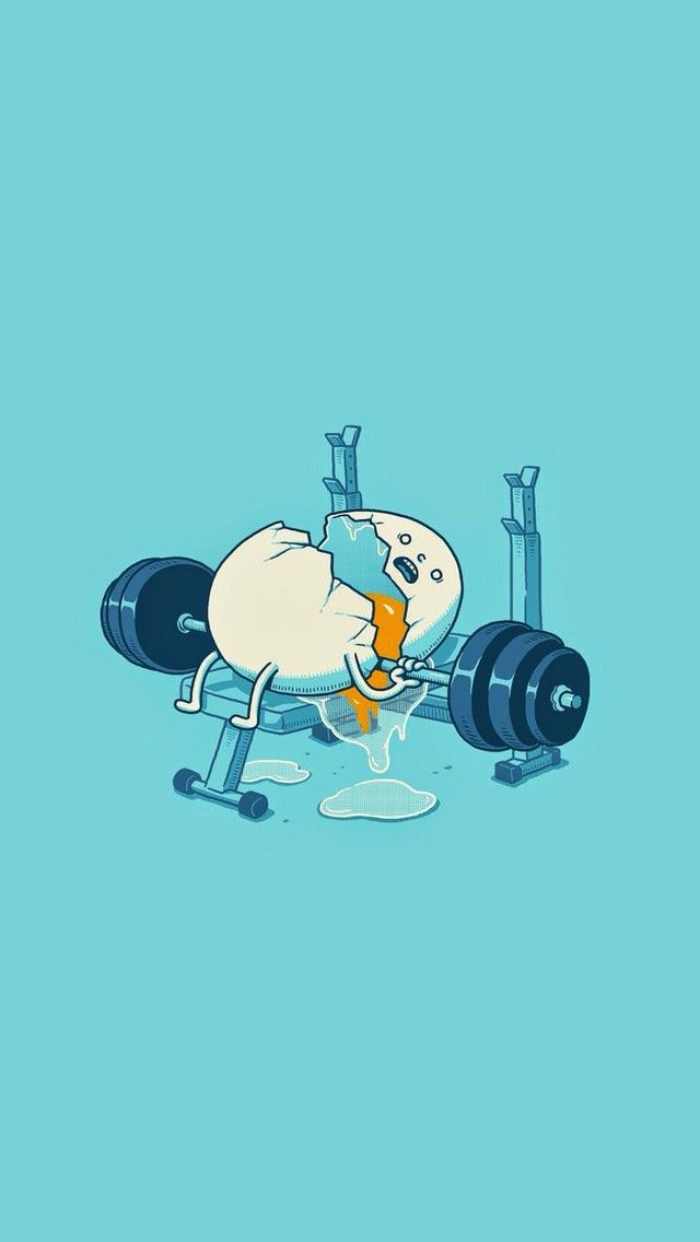 Workout Egg   cute funny iPhone wallpaper mobile9 Wallpaper 640x1136