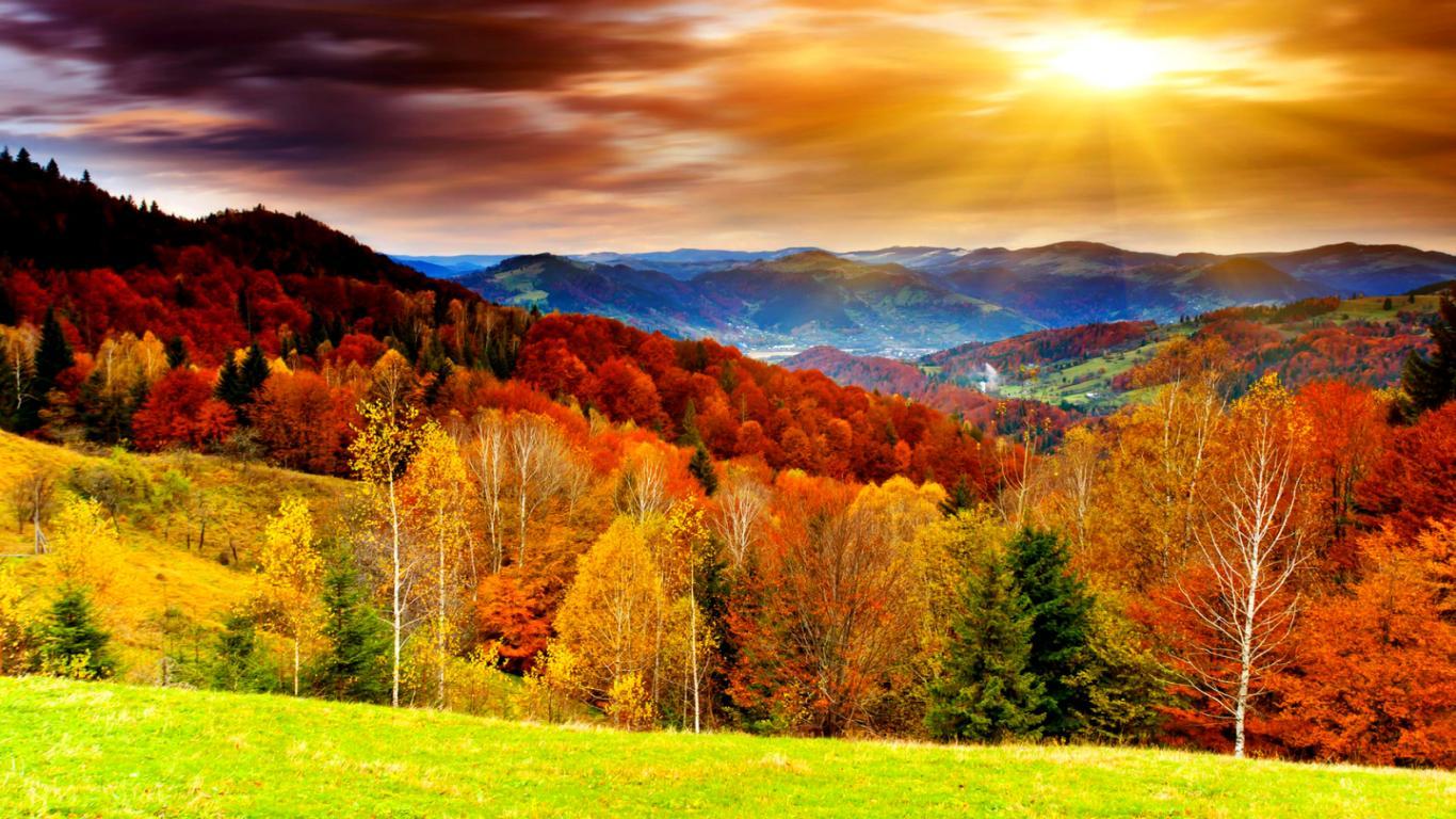 fall desktop wallpaper widescreen   SF Wallpaper 1366x768