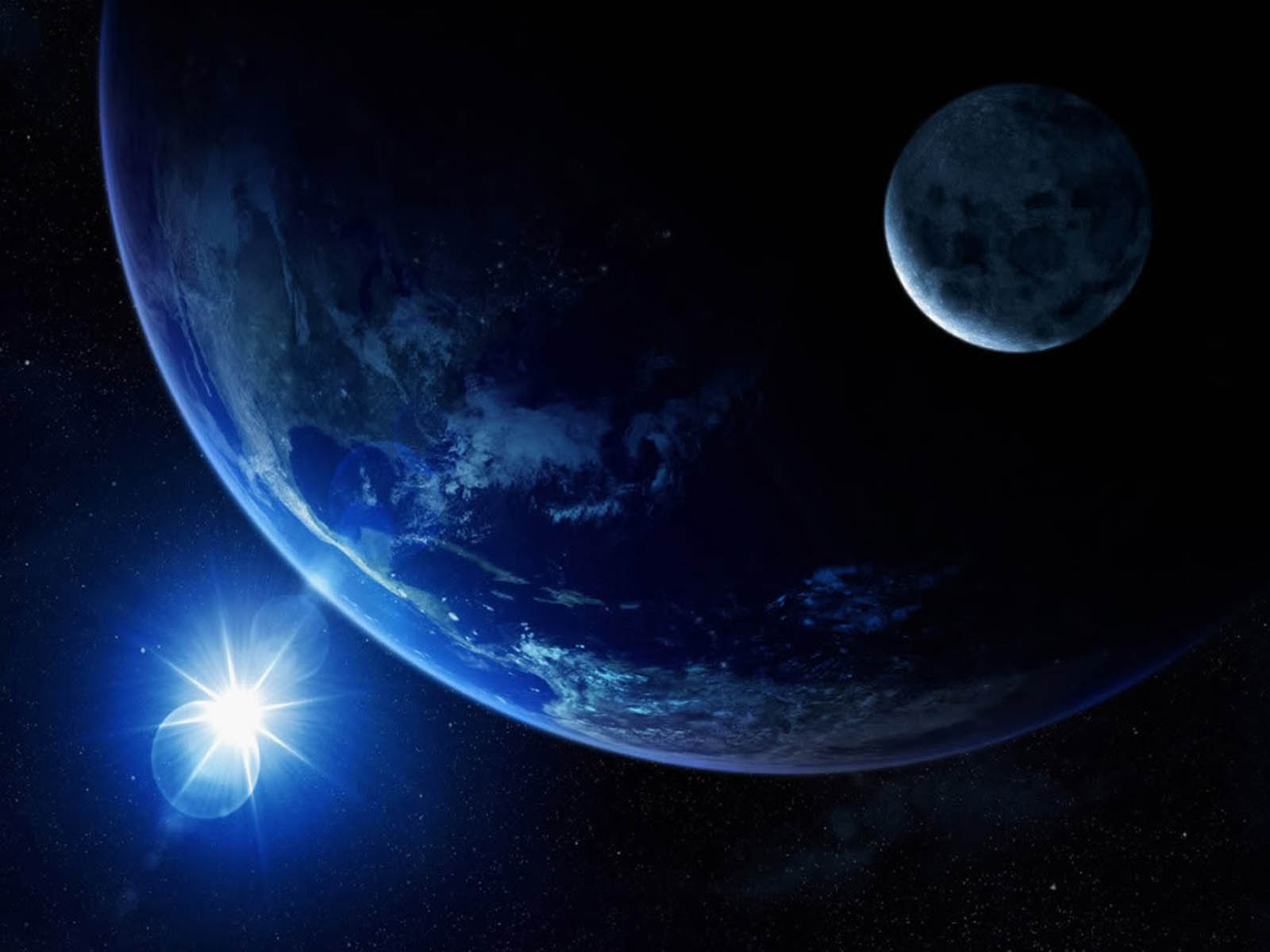 Earth And Moon Wallpapers BackgroundsPhotos Images and Pictures 1600x1200
