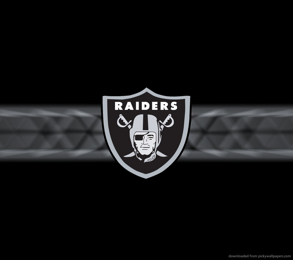 Download Oakland Raiders Logo Wallpaper For Sony Ericsson Xperia X10 960x854