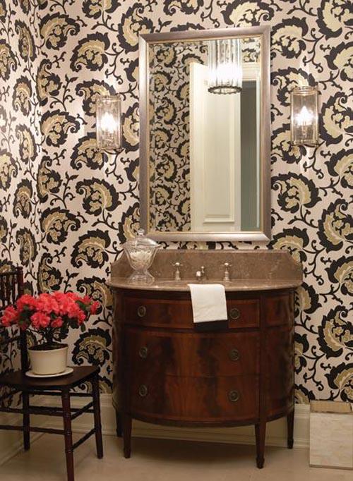30 Bathroom Wallpaper Ideas Shelterness 500x682